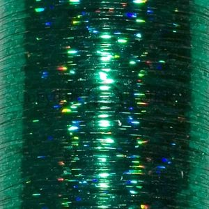 Flat Holographic tinsel S Green