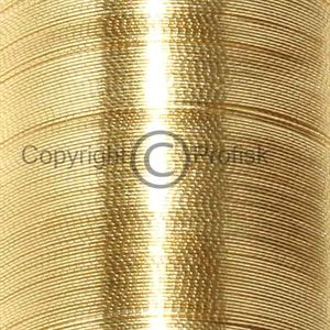 Oval Metal Tinsel Gold x-fine