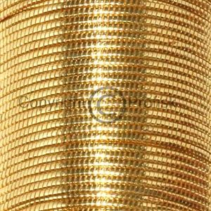 Oval Metal Tinsel Gold large