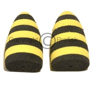 Tapered Foam Popper L. Black/Yellow
